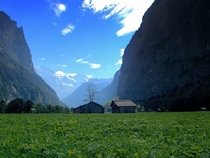 Phone picture a little outside Lauterbrunnen Switzerland
