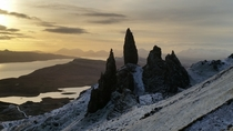 Phone shot of old man of storr Isle of Skye Scotland