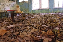 Photo I took at the school in Pripyat - Chernobyl Ukraine