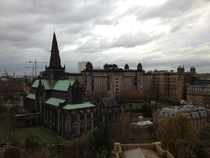 Photo I took atop The Necropolis overlooking Glasgow Cathedral Scotland X