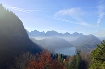 Photo I took looking over the Alpsee Germany and into Austria