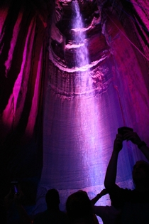 Photo I took of Ruby Falls - a  foot waterfall  feet underground