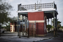 Photo I took of the ticket entrance at Six Flags Jazzland in New Orleans LA before the guard dog ran me off