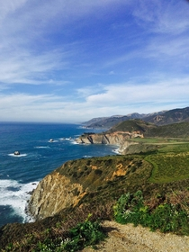 Photo I took while driving up PCH Big Sur Bixby Bridge