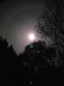 Photo of a supermoon I took back in Nov  on a Samsung Galaxy s The ring was stunning to see irl