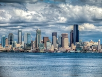 Photo of Seattle downtown cityscape I shot from Alki Beach