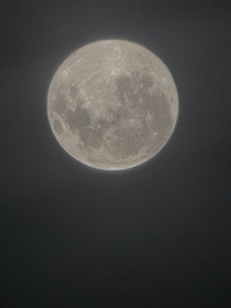 Photo of the February th supermoon