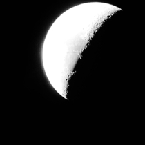 Photo of the moon I took a couple hours ago Looks like a photo from the Apollo missions