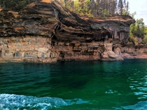 Photo of the Pictured Rocks in the Upper Peninsula of Michigan