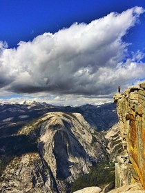 Photo that was taken off me on the top of Half dome in Yosemite  a sight I wish everyone could experience
