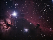 Photographed at the New Zealand Astrophotography event this is my first attempt at the Horsehead and Flame Nebula