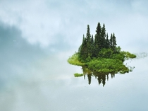 Photographer Shane Kalyn captures what looks to be an Island in the Sky at Tumuch Lake in northern British Columbia