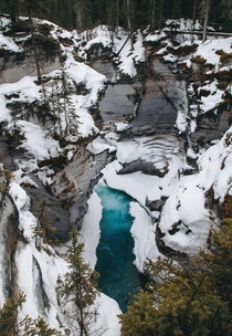 Photos do not give the color justice Athabasca Falls Alberta Canada