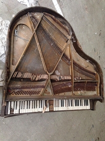 Piano found inside a building at the abandoned Belchertown State School in MA
