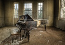 Piano in an abandoned insane asylum