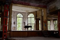 Piano in an old lung-sanatorium near Berlin Germany