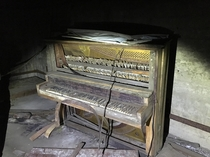 Piano we found in the basement of an abandoned Insane Asylum in Connecticut