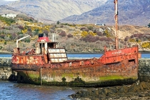 Piboch abandoned cargo ship in letterfrac Co Galway Ireland