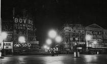 Piccadilly Circus with the lights off  London  Photo by Associated Newspapers