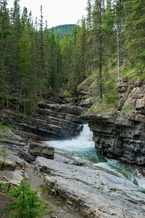 picture back in august - Johnston Canyon Lower Falls Banff National Park Of Canada  x