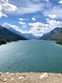 Picture from Waterton Lakes National Park located in the southwest corner of Alberta Canada It borders Glacier National Park in Montana USAFormed in  this park contains  km of rugged mountains and wilderness
