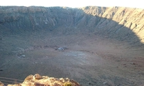 Picture I took about  years ago of meteor crater in AZ