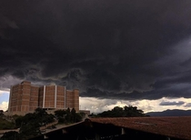 Picture I took from an upcoming storm at Universidad Catlica de Honduras around early