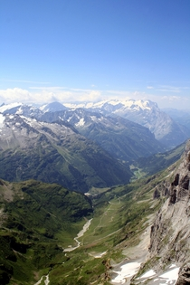 Picture I took from the top of Mount Titlis near Engelberg Switzerland in summer