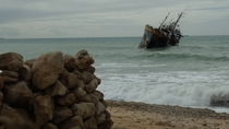 Picture I took of an abandoned ship off the coast of the Western Sahara