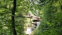 Picture I took of Fallingwater today One of the most beautiful houses Ive ever seen