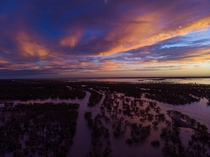 Picture I took with my drone during the floodings in the outback last year