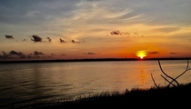 Picture of a sunset I took in NC over the intracoastal waterway x