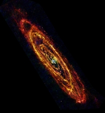 Picture of Andromeda galaxy from the Herschel space observatory