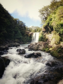 Picture of Gollums pool Tawhai falls New Zealand but I cant quite remember what scene it is from