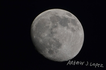 picture of moon taken with Nikon D and Orion starblast  Equitorial