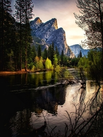 Picture perfect three brothers Yosemite National Park