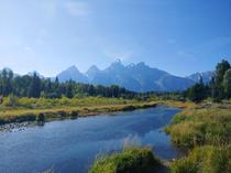 Picture postcard view in Grand Teton National Park