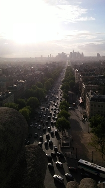 Picture taken ontop of the Arc De Triomphe  Paris