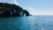 Pictured Rocks and the Beautiful Waters of Lake Superior Michigan x