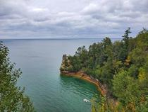 Pictured Rocks in the UP of Michigan No filters OC