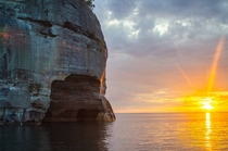 Pictured Rocks located in the Upper Peninsula of Michigan