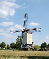 Picturesque Windmill in Baexem Netherlands