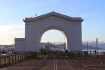 Pier  Ferry Arch in San Francisco California