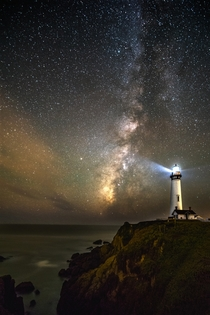 Pigeon Point Lighthouse and the Milky Way