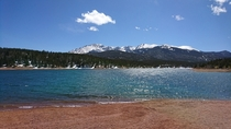 Pikes peak from Crystal Lake