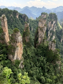 Pillars of Avatar mountains at Zhangjiajie