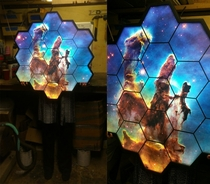Pillars of Creation James Webb themed LED sign
