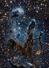 Pillars of creation most recent view from world and science fb page