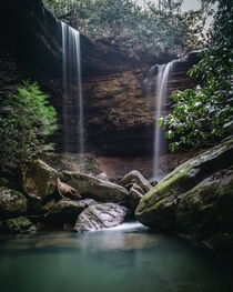 Pine Island Double Falls Daniel Boone National Forest Kentucky