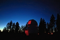 Pine Mtn Observatory outside of Bend OR Big Dipper photobombing above the telescope